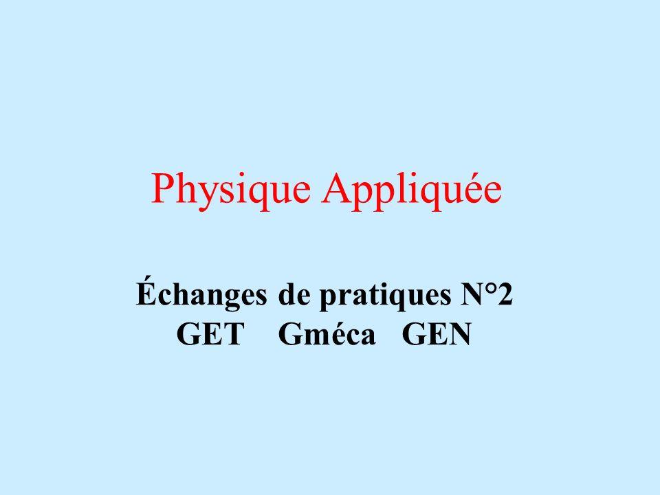 Échanges de pratiques N°2