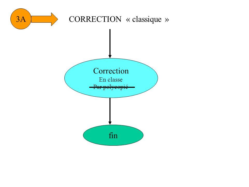 CORRECTION « classique »