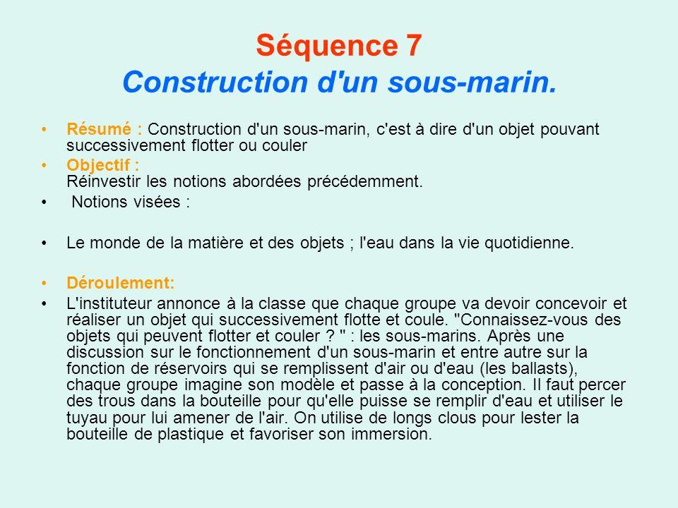 Séquence 7 Construction d un sous-marin.