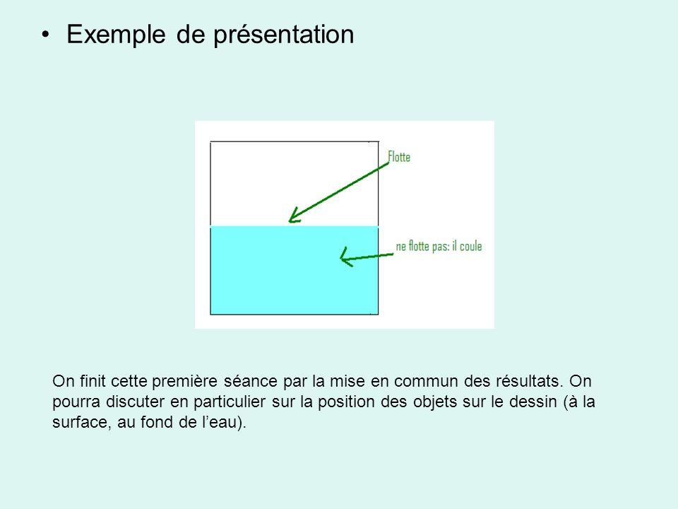 Exemple de présentation