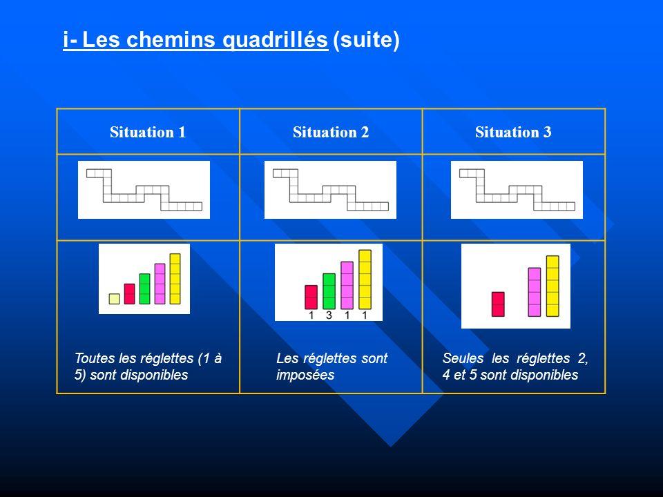 i- Les chemins quadrillés (suite)
