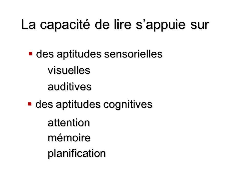 des aptitudes sensorielles