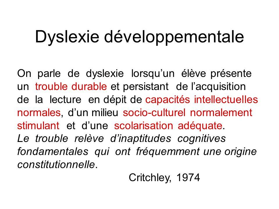 Dyslexie développementale
