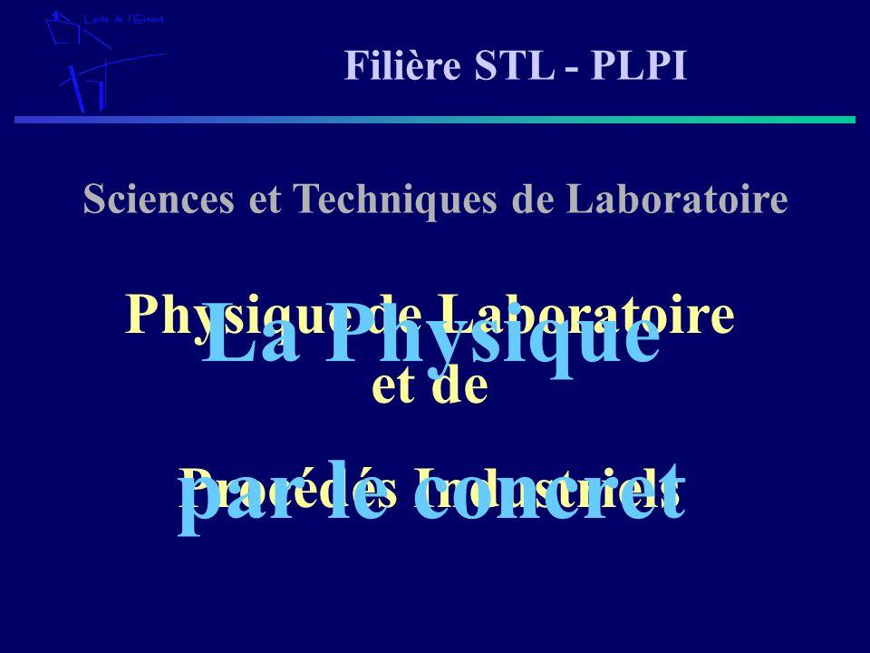 Sciences et Techniques de Laboratoire Physique de Laboratoire et de