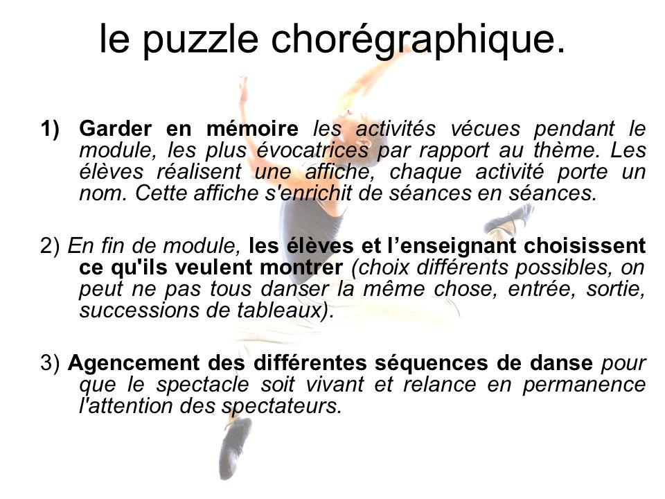 le puzzle chorégraphique.