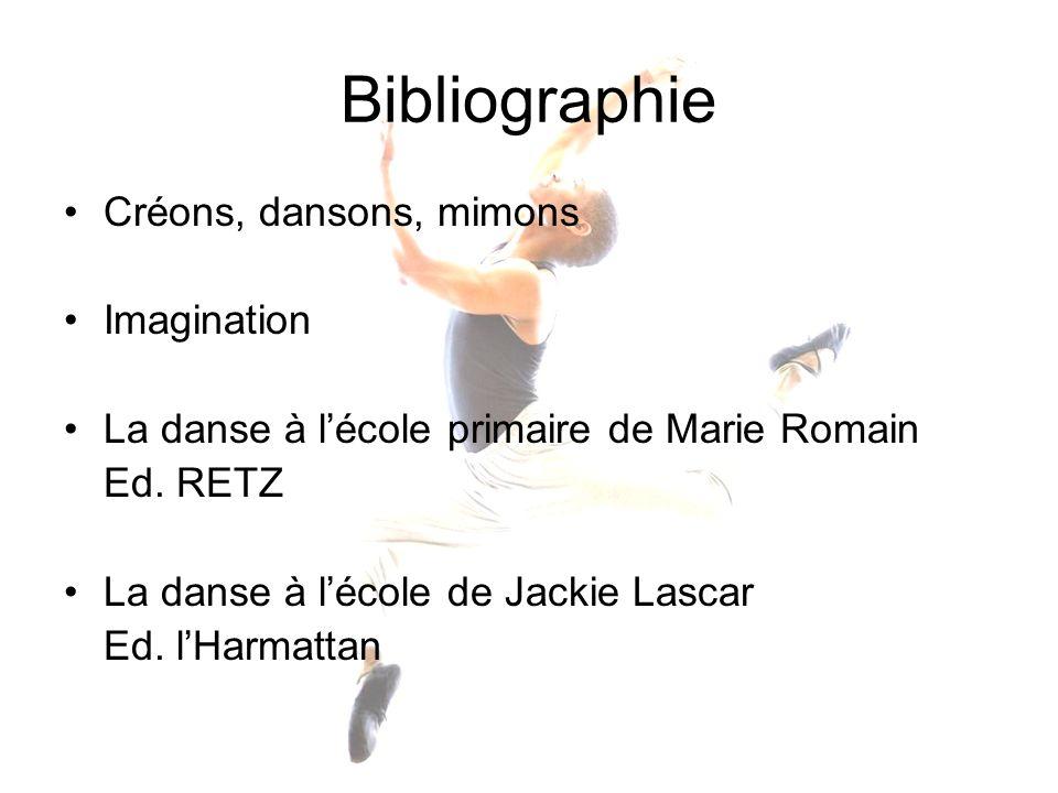 Bibliographie Créons, dansons, mimons Imagination