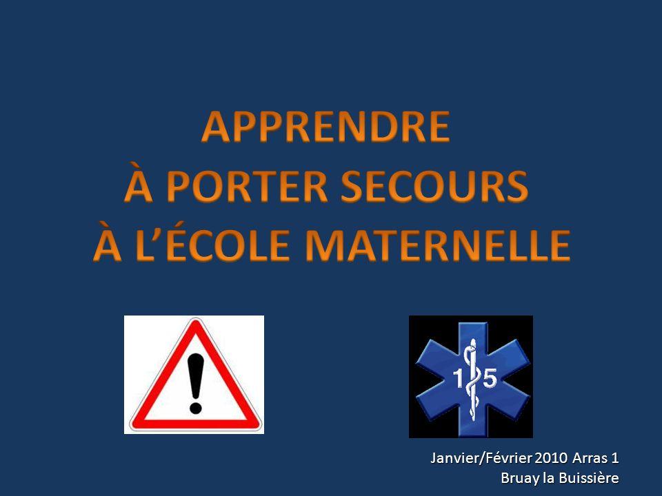 APPRENDRE À PORTER SECOURS À L'ÉCOLE MATERNELLE