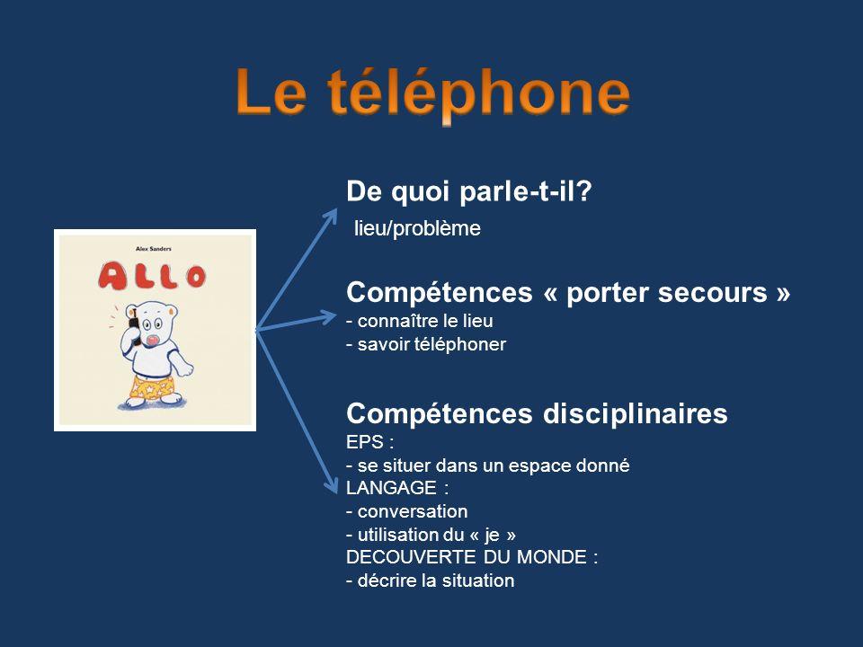 Le téléphone De quoi parle-t-il lieu/problème