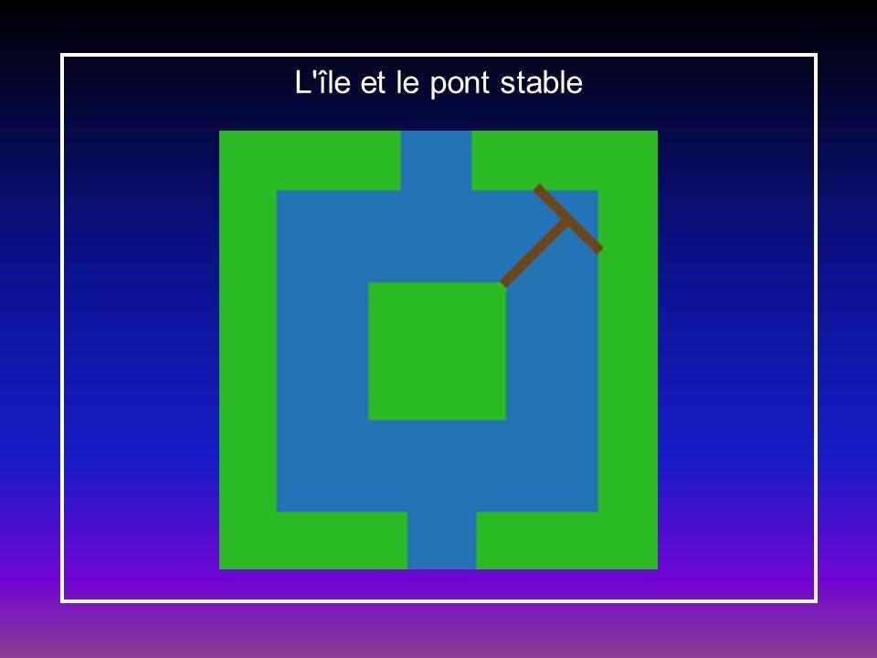 L île et le pont stable