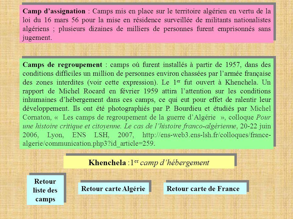 Khenchela :1er camp d'hébergement