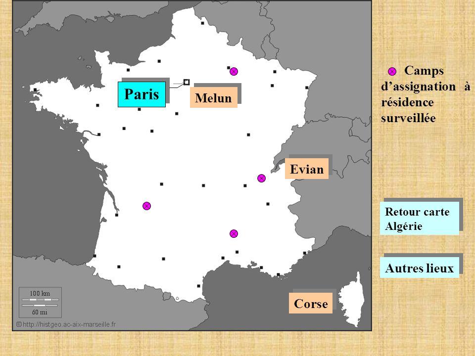 Paris Camps d'assignation à résidence surveillée Melun Evian