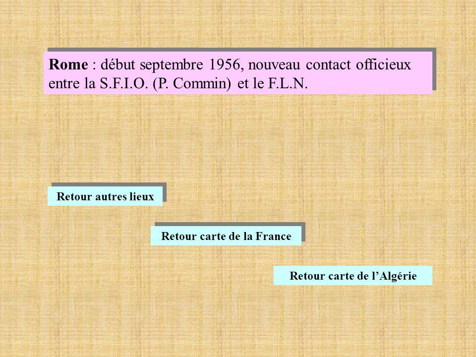 Retour carte de la France Retour carte de l'Algérie