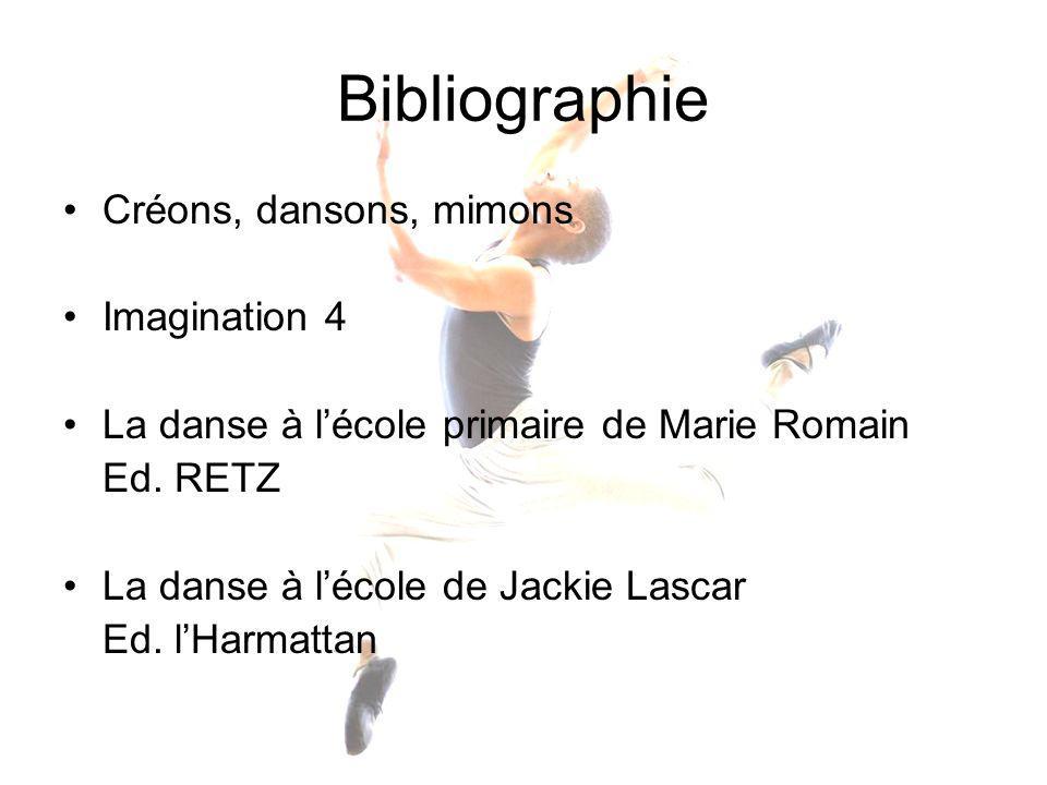 Bibliographie Créons, dansons, mimons Imagination 4