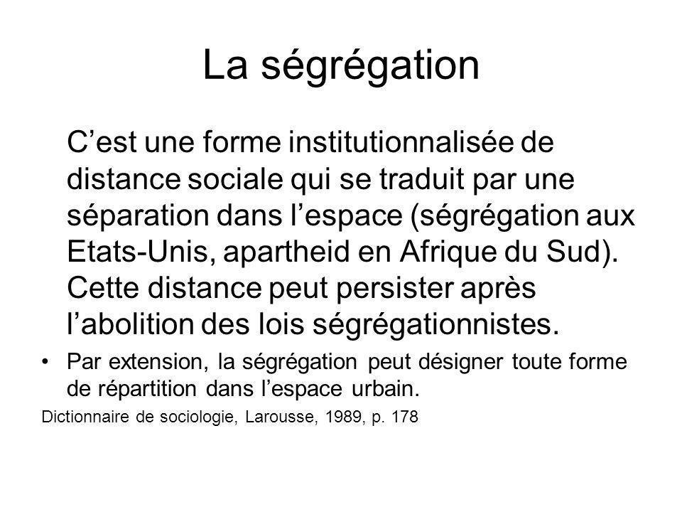 La ségrégation