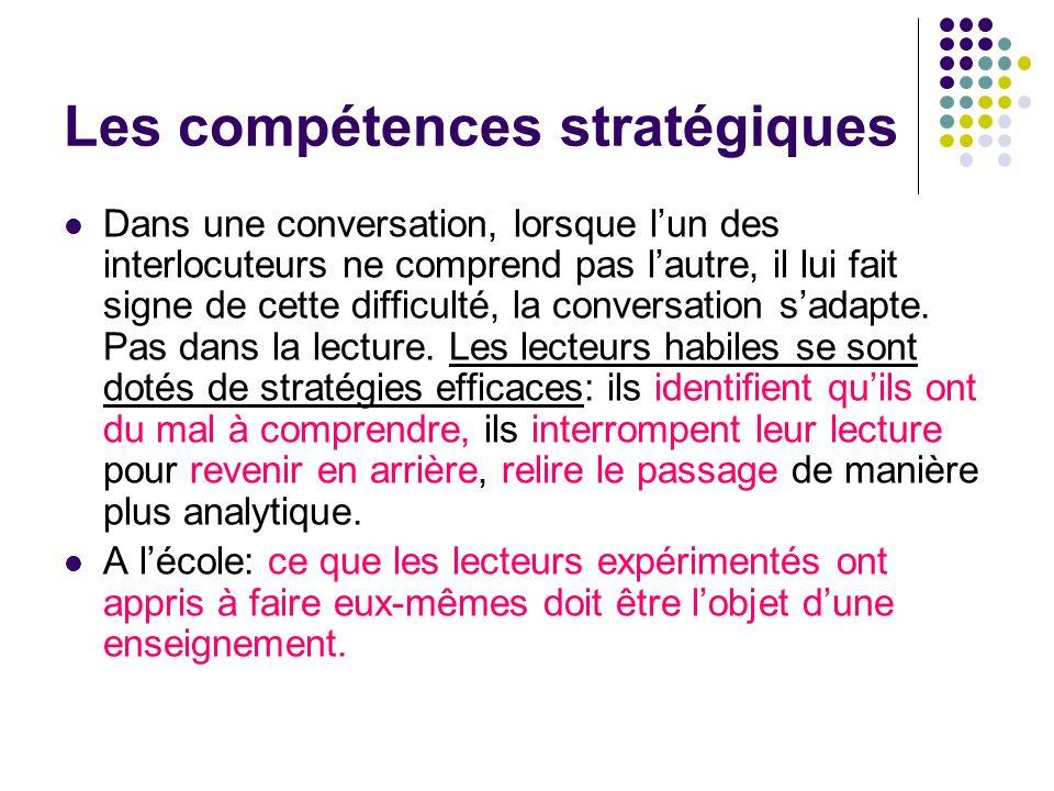 Les compétences stratégiques