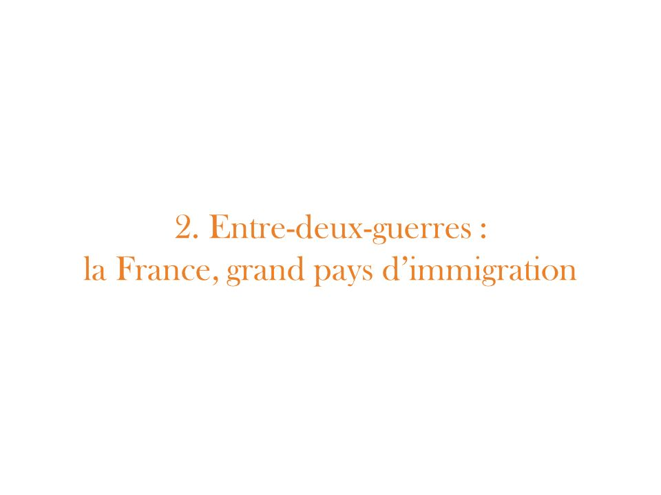 2. Entre-deux-guerres : la France, grand pays d'immigration