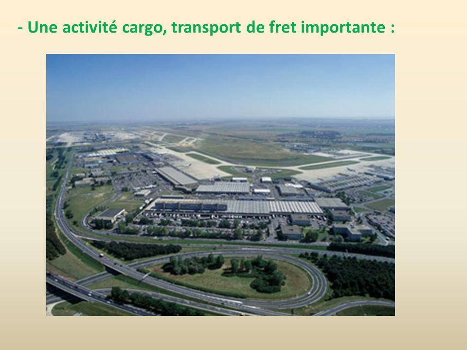 - Une activité cargo, transport de fret importante :