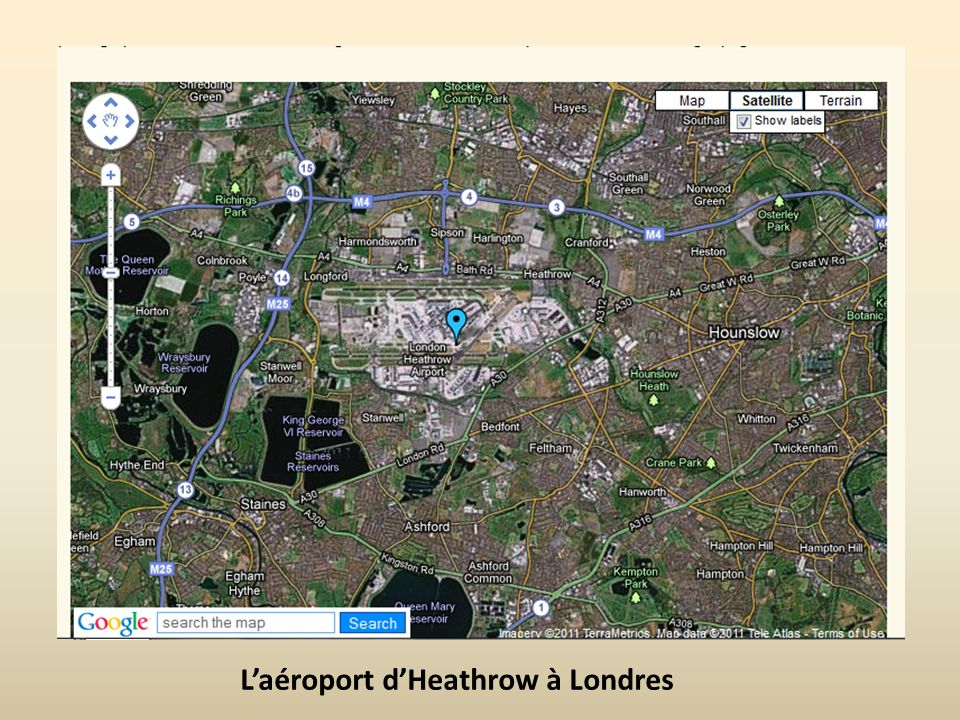 L'aéroport d'Heathrow à Londres
