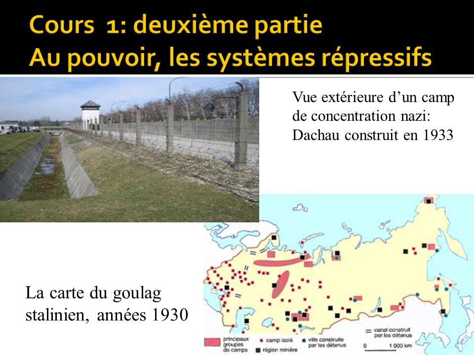Cours 1: deuxième partie Au pouvoir, les systèmes répressifs