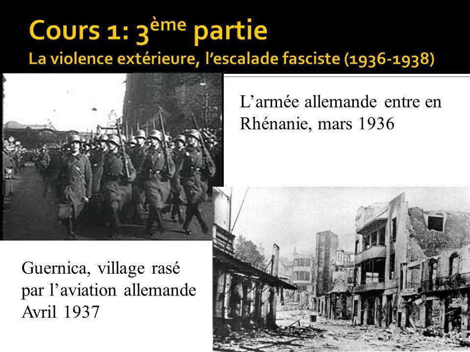 Cours 1: 3ème partie La violence extérieure, l'escalade fasciste (1936-1938)