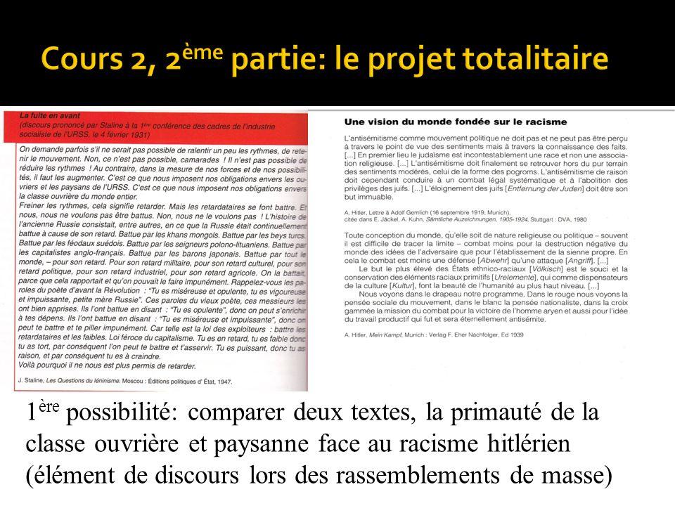 Cours 2, 2ème partie: le projet totalitaire