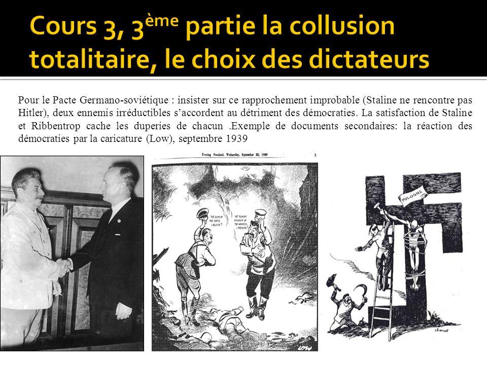 Cours 3, 3ème partie la collusion totalitaire, le choix des dictateurs