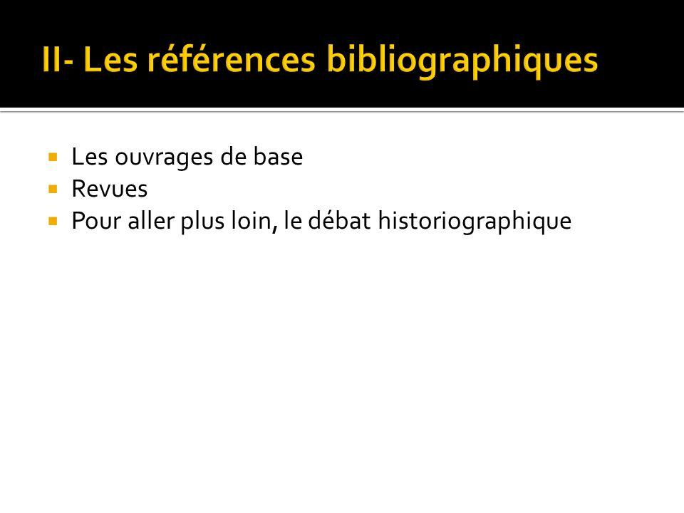 II- Les références bibliographiques