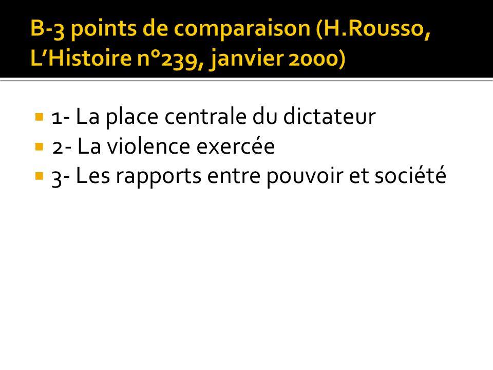 B-3 points de comparaison (H.Rousso, L'Histoire n°239, janvier 2000)