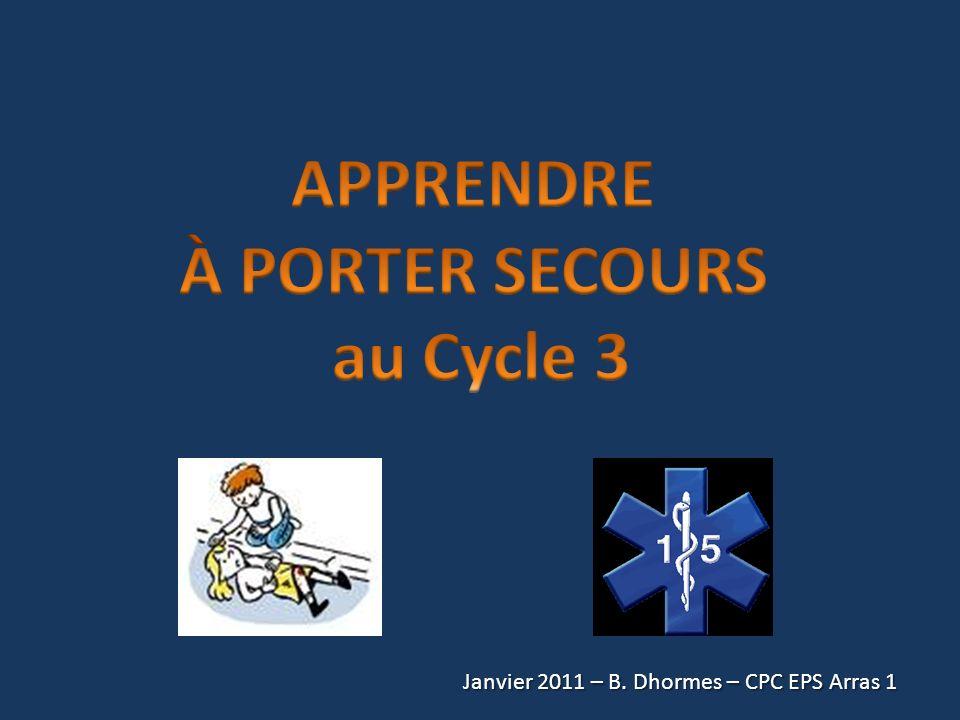APPRENDRE À PORTER SECOURS au Cycle 3