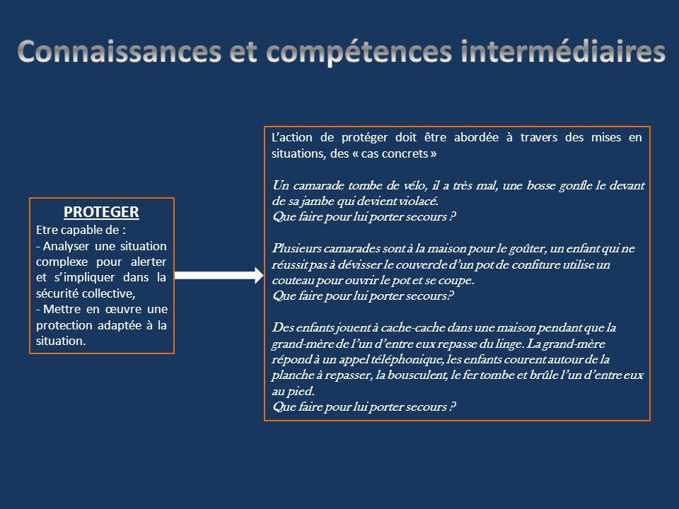 Connaissances et compétences intermédiaires