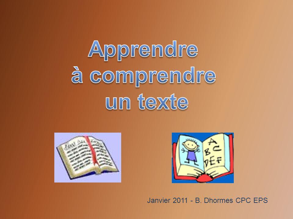 Apprendre à comprendre un texte