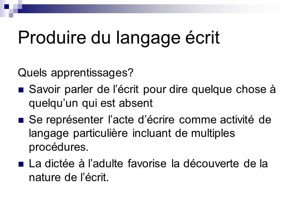 Produire du langage écrit