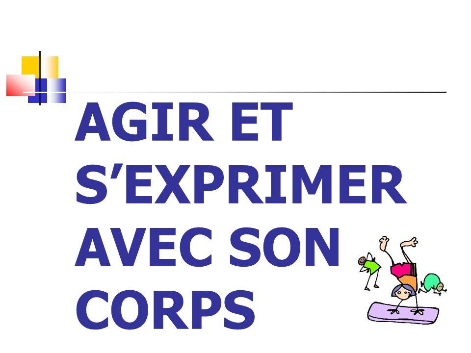 AGIR ET S'EXPRIMER AVEC SON CORPS
