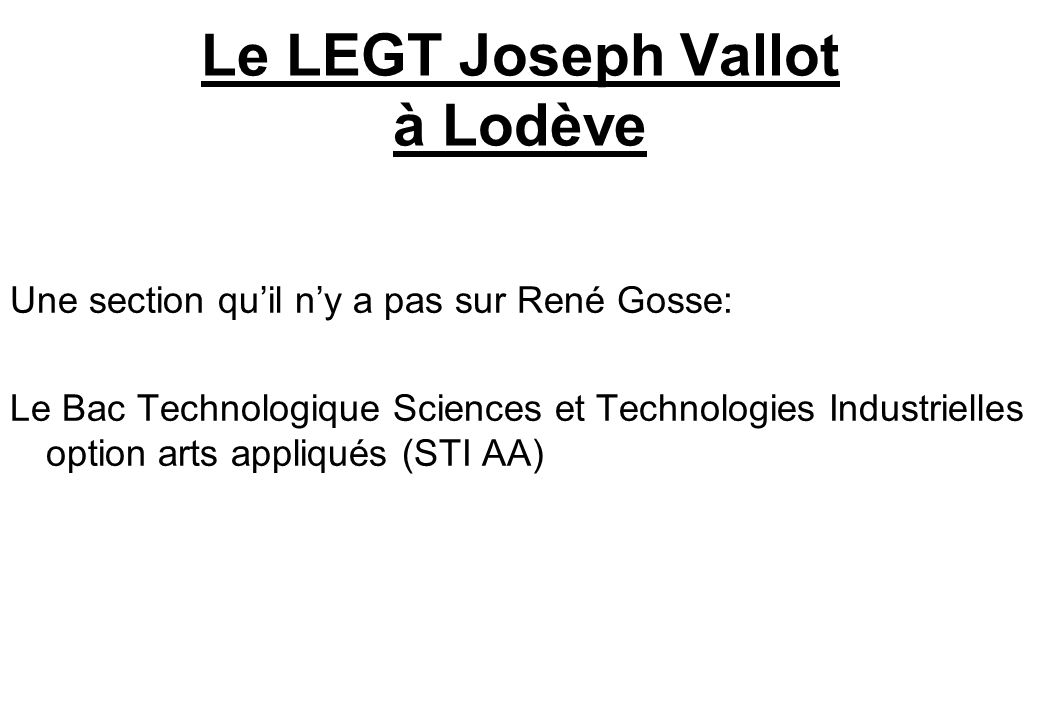 Le LEGT Joseph Vallot à Lodève