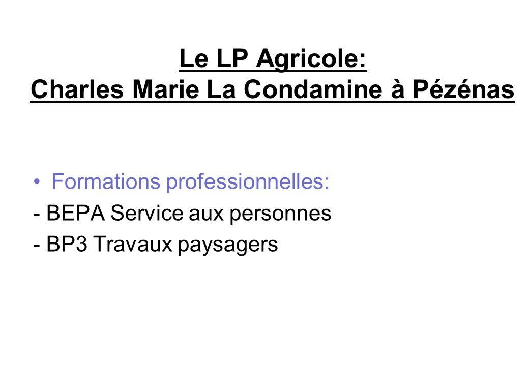 Le LP Agricole: Charles Marie La Condamine à Pézénas