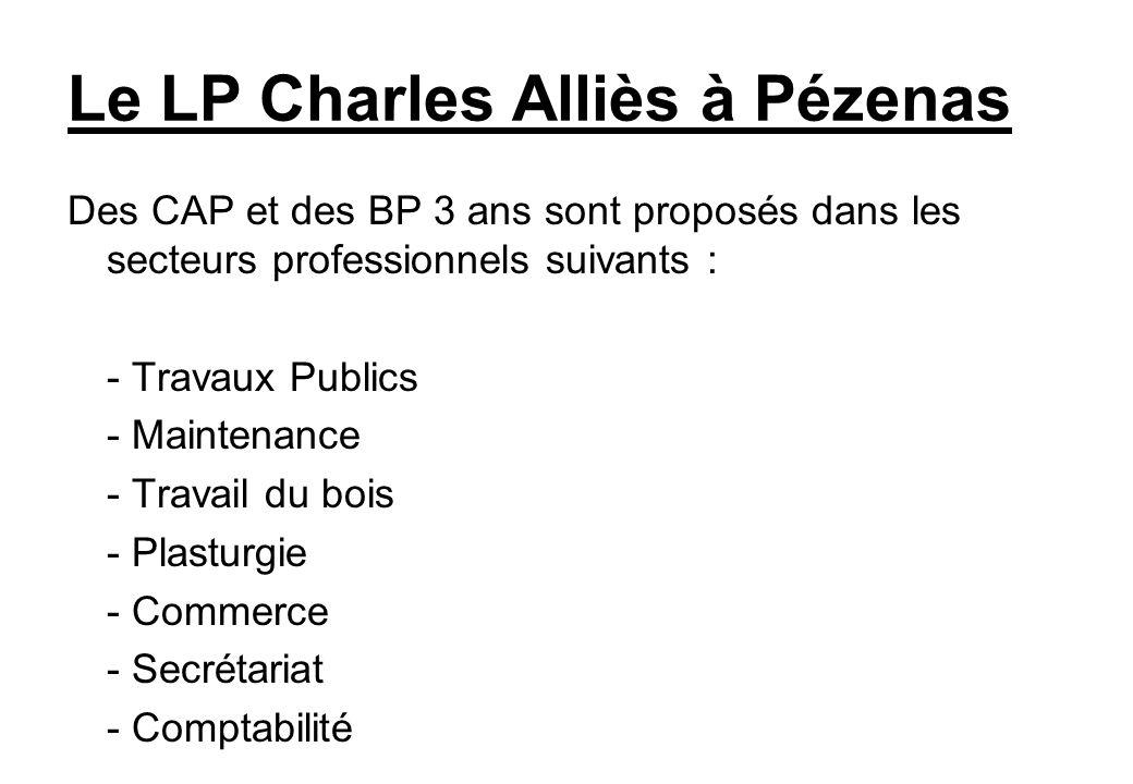 Le LP Charles Alliès à Pézenas