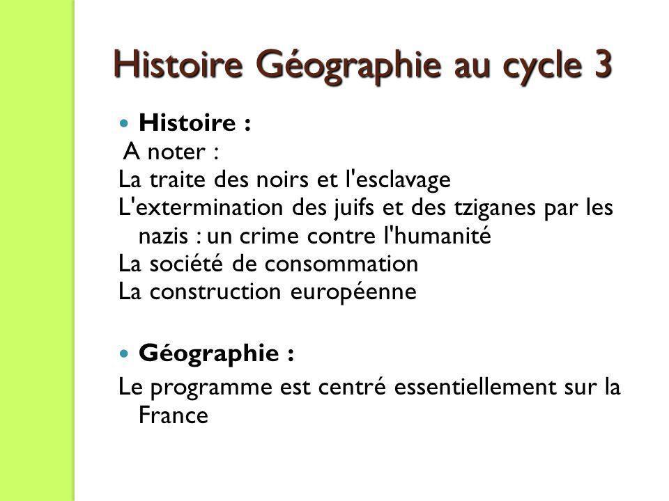 Histoire Géographie au cycle 3