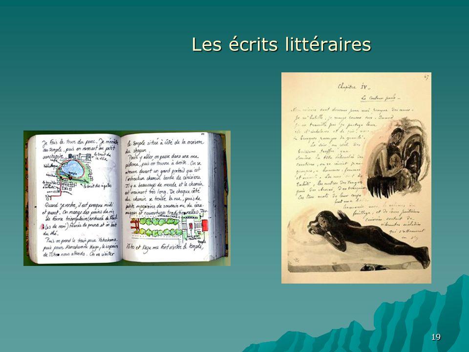 Les écrits littéraires