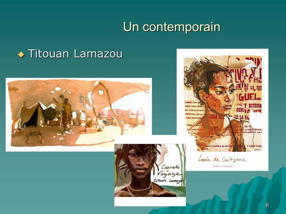Un contemporain Titouan Lamazou