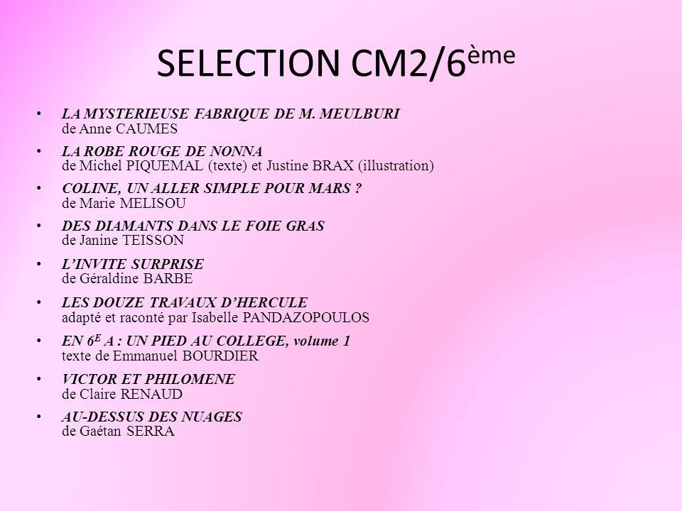 SELECTION CM2/6èmeLA MYSTERIEUSE FABRIQUE DE M. MEULBURI de Anne CAUMES.