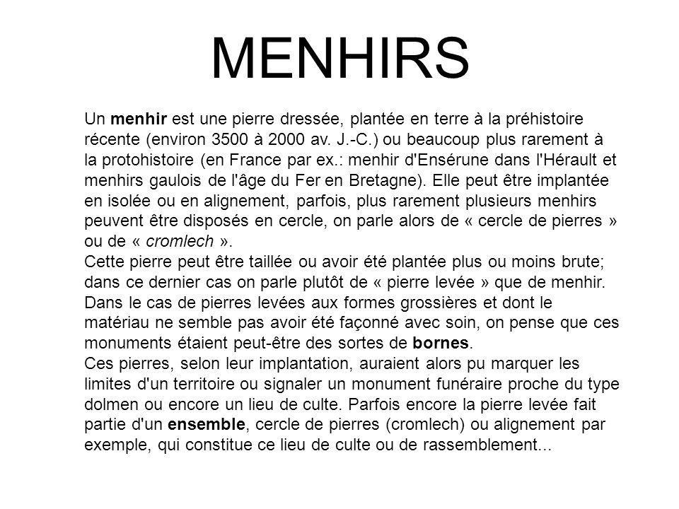 MENHIRS