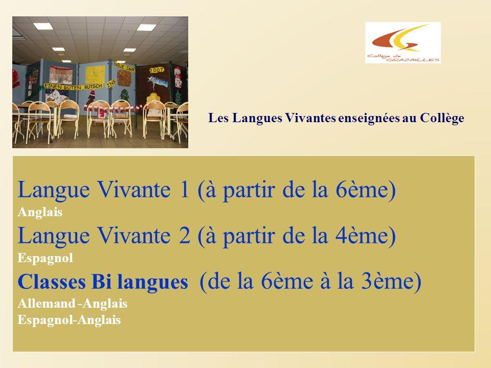 Langue Vivante 1 (à partir de la 6ème)