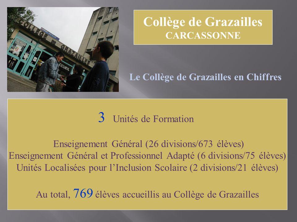 3 Unités de Formation Collège de Grazailles CARCASSONNE