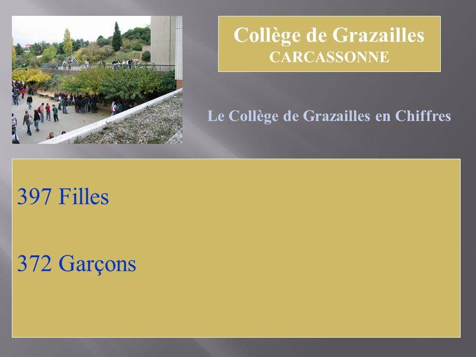 397 Filles 372 Garçons Collège de Grazailles CARCASSONNE