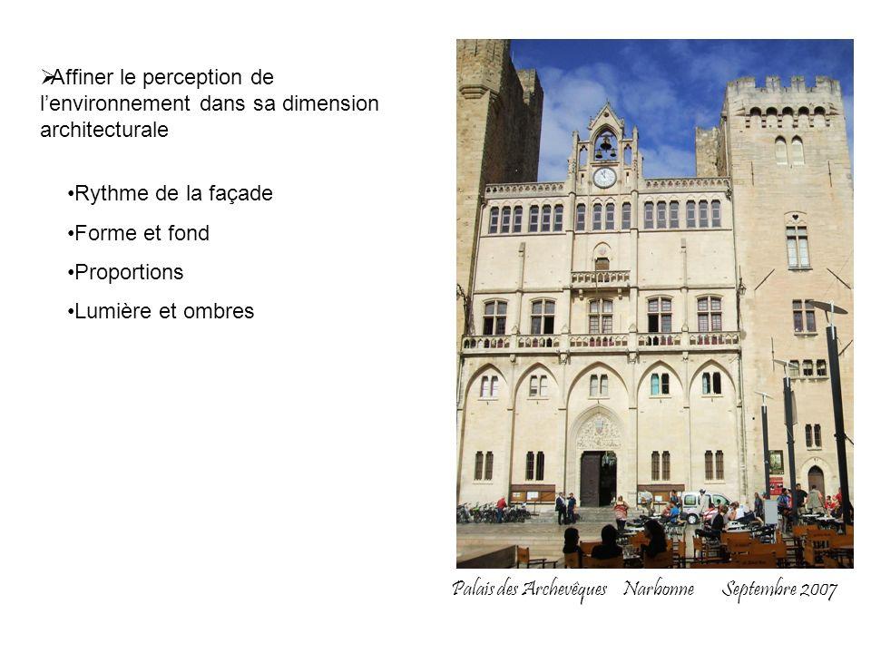 Affiner le perception de l'environnement dans sa dimension architecturale