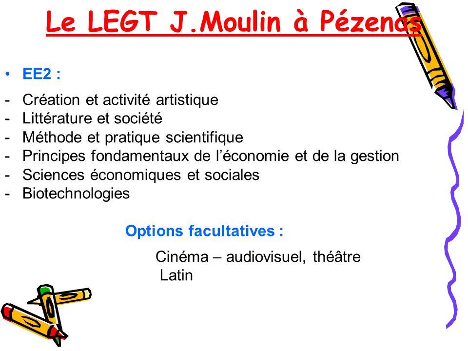 Le LEGT J.Moulin à Pézenas