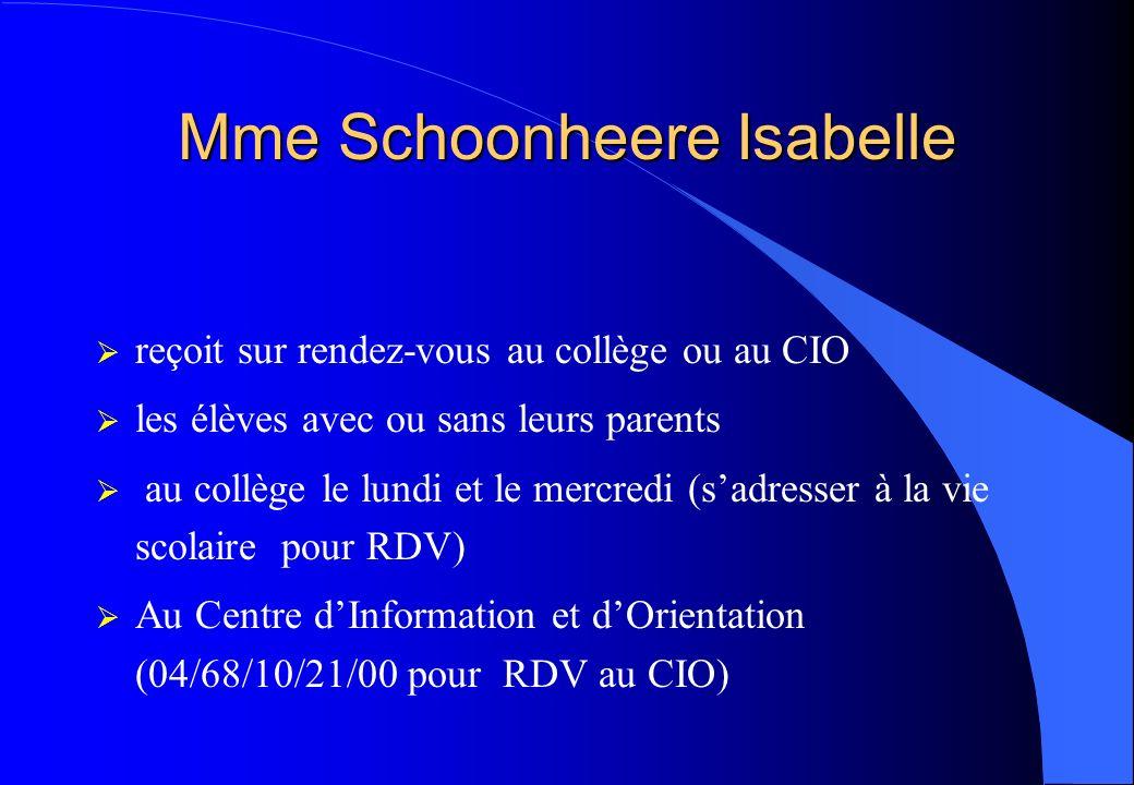 Mme Schoonheere Isabelle