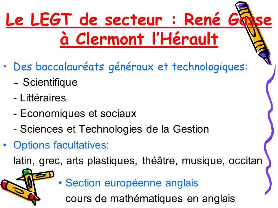 Le LEGT de secteur : René Gosse à Clermont l'Hérault