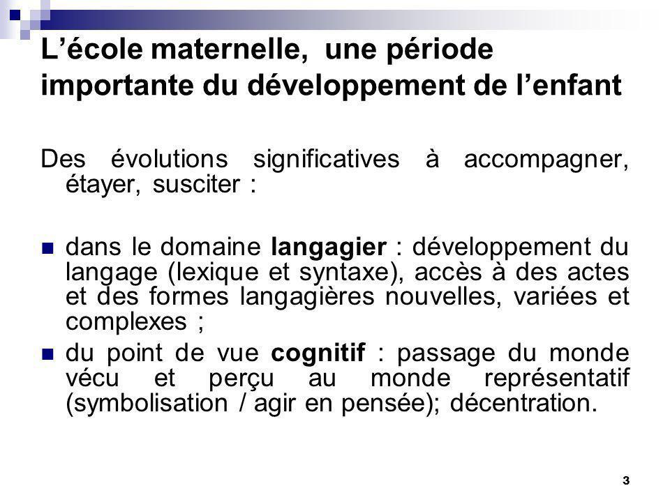 L'école maternelle, une période importante du développement de l'enfant