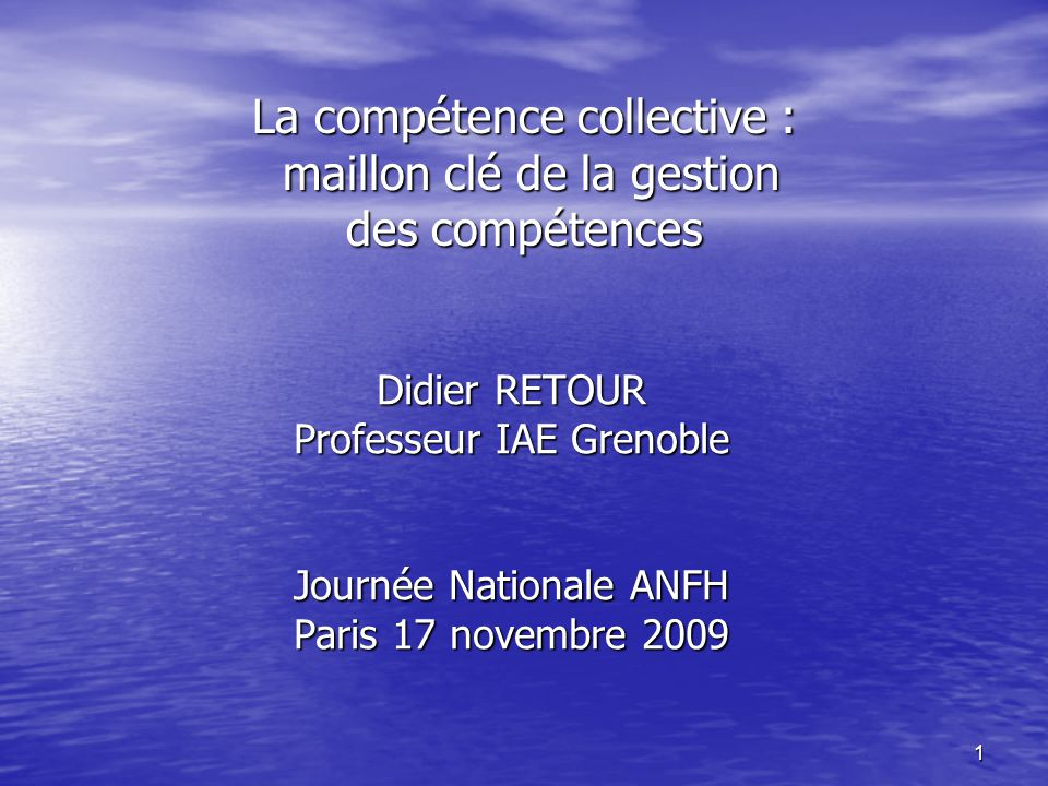 la comp u00e9tence collective   maillon cl u00e9 de la gestion des